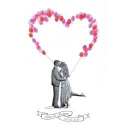 Spersonalizowana Księga Gości Zakochana Para