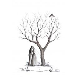 Spersonalizowana Księga Gości Para pod Drzewem