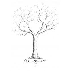 Spersonalizowana Księga Gości Drzewko Szczęścia