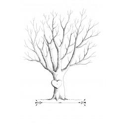 Spersonalizowana Księga Gości Drzewko Miłości